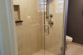 Two panel Frameless Shower Enclosure