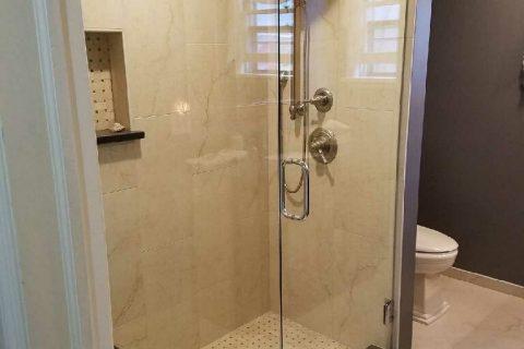 Two panel Frameless Shower Enclosure