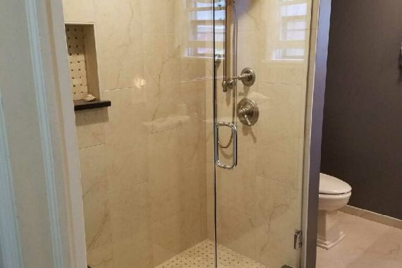 Two Panel Frameless Shower Enclosure Frontier Glass Inc